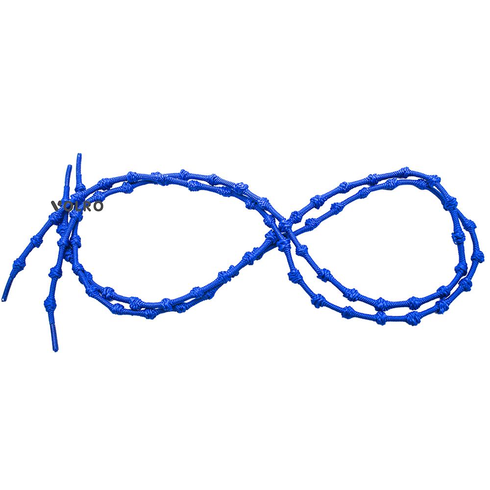 Шнурки для обуви с узелками эластичные VOLRO Синий (vol-517)