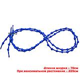 Шнурки для обуви с узелками эластичные VOLRO Синий (vol-517), фото 3