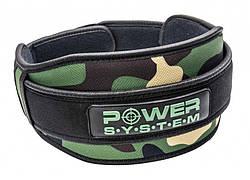 Пояс для тяжелой атлетики Power System Predator PS-3220 S Камуфляж