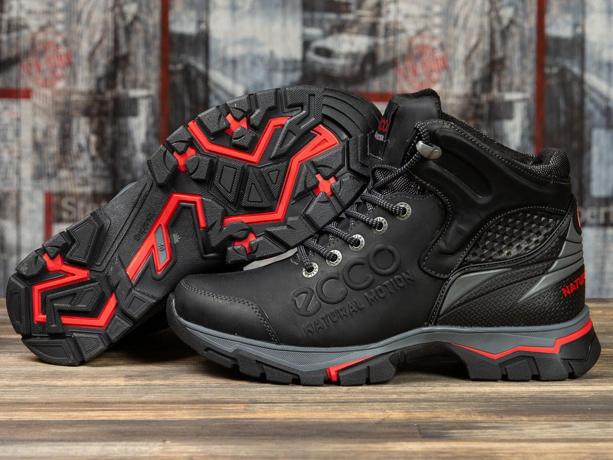 Зимние мужские ботинки 31172, Ecco Natural Motion, черные, < 40 > р. 40-26,5см.