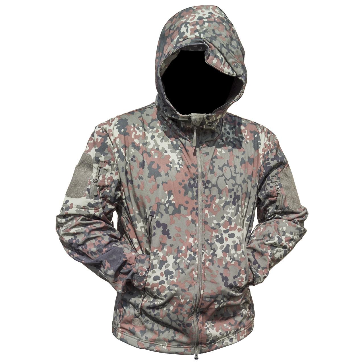 Тактична куртка Soft Shell Lesko A001 Camouflage ACU M вологозахищена вітрозахисна куртка камуфляж