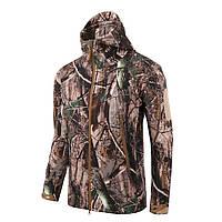 Тактическая куртка Soft Shell Lesko A001 Осенний лист L мужская ветрозащитная ветровка камуфляж