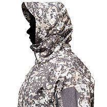 Тактическая куртка Soft Shell ESDY A001 Pixel XL мужская влагозащищенная ветрозащитная ветровка камуфляж, фото 2