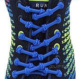Шнурки для обуви с узелками эластичные 2Life Синий (n-517), фото 3
