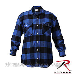 Рубашка  мужская  зимняя фланелевая  Extra Heavyweight Buffalo Plaid Flanne Буффало синяя   Rotcho