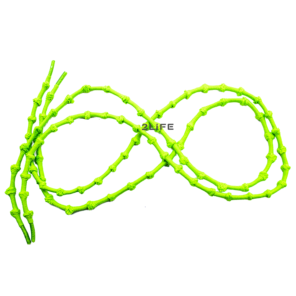 Шнурки для обуви с узелками эластичные 2Life Зеленый (n-518)