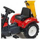 Детский педальный трактор с прицепом и 2 ковшами Falk 2051CN RANCH для дітей, фото 2