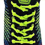 Шнурки для обуви с узелками эластичные VOLRO Зеленый (vol-518), фото 2