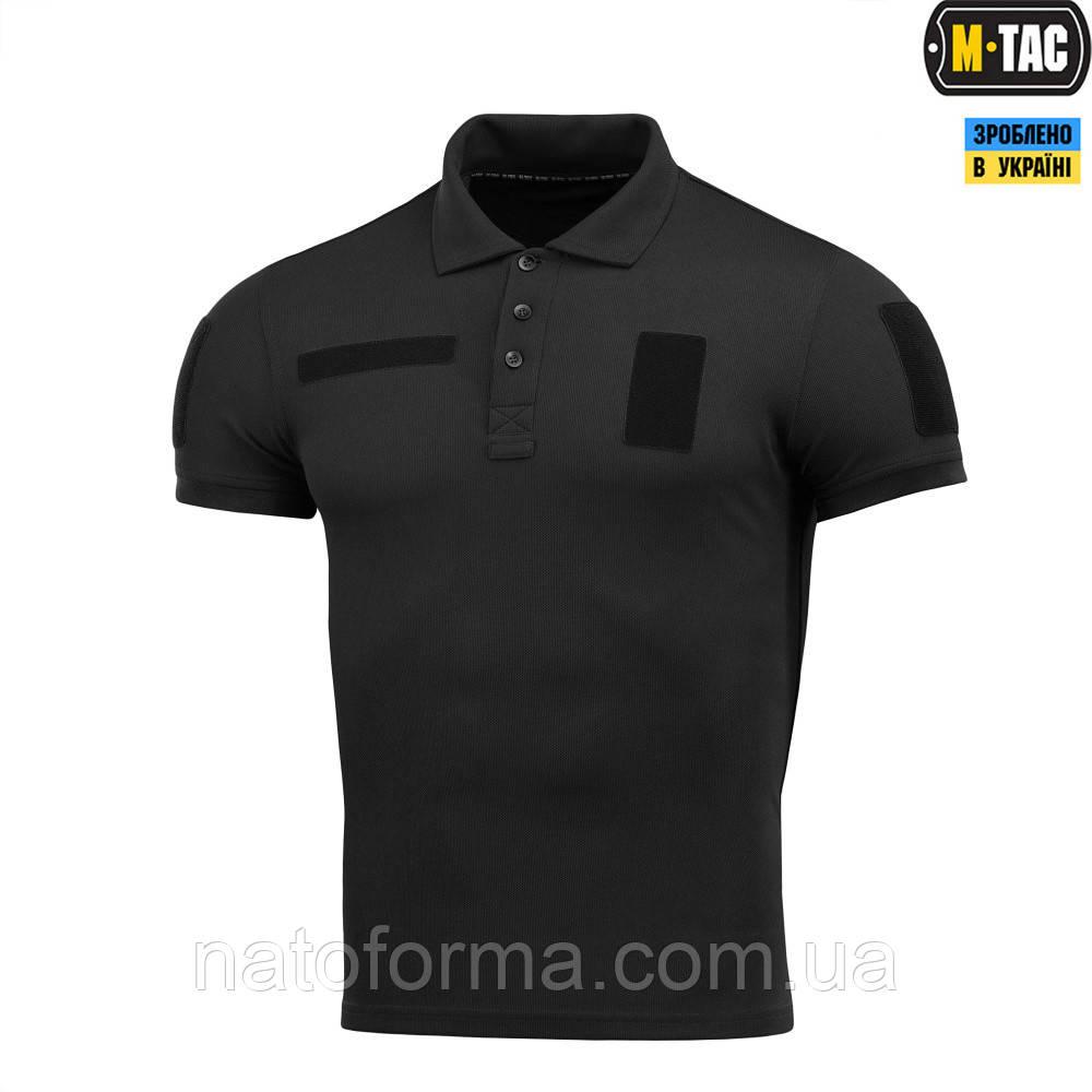Поло тактическое M-Tac Polyester, Black