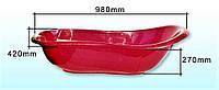 Ванночка детская «SL» красная Консенсус (ванна для малыша, ребёнка)
