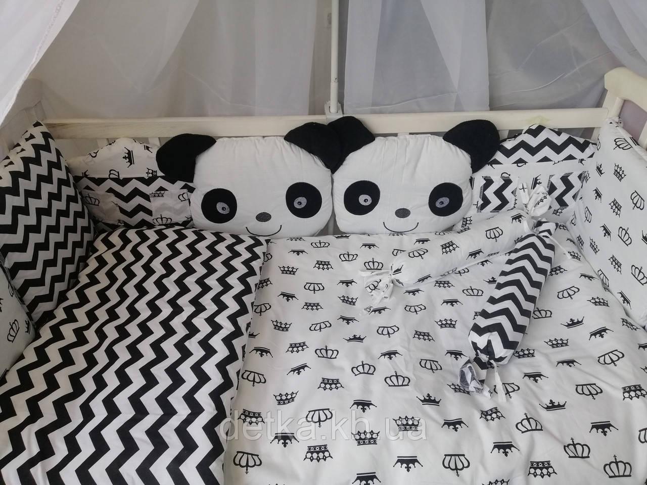 """Комплект постельный """"Панда"""" в детскую кроватку"""