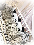 """Комплект постельный """"Панда"""" в детскую кроватку, фото 2"""