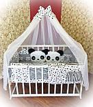 """Комплект постельный """"Панда"""" в детскую кроватку, фото 4"""
