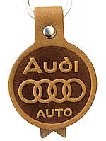 Автомобільний шкіряний брелок Ауді AUDI Auto, фото 1