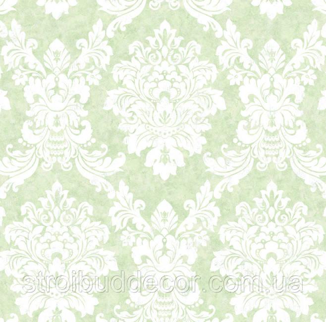 Обои плотные бумажные  0,53*10,05 Эко узор зеленый
