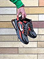 Мужские кроссовки Nike Air Max 270 React серые (ТОП реплика ААА+)