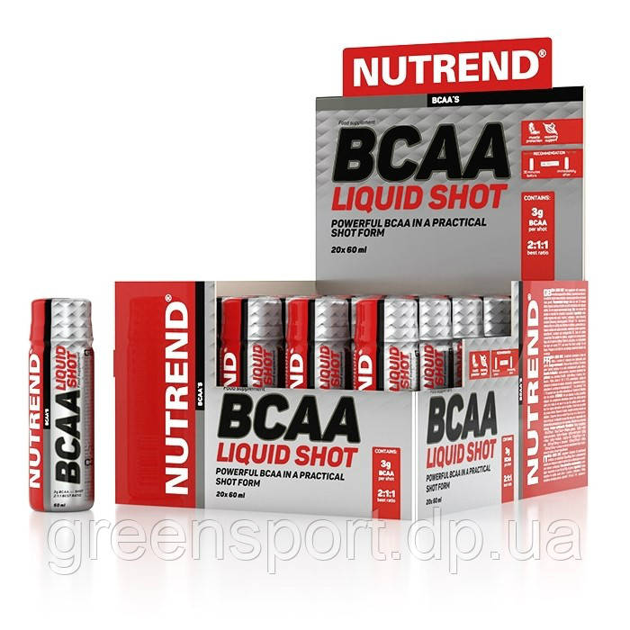 BCAA аминокислоты Nutrend BCAA Liquid Shot 20x60 мл