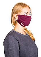 Маска для лица многоразовая медицинская Розовая, Детские, Хлопок с антивирусным напылением