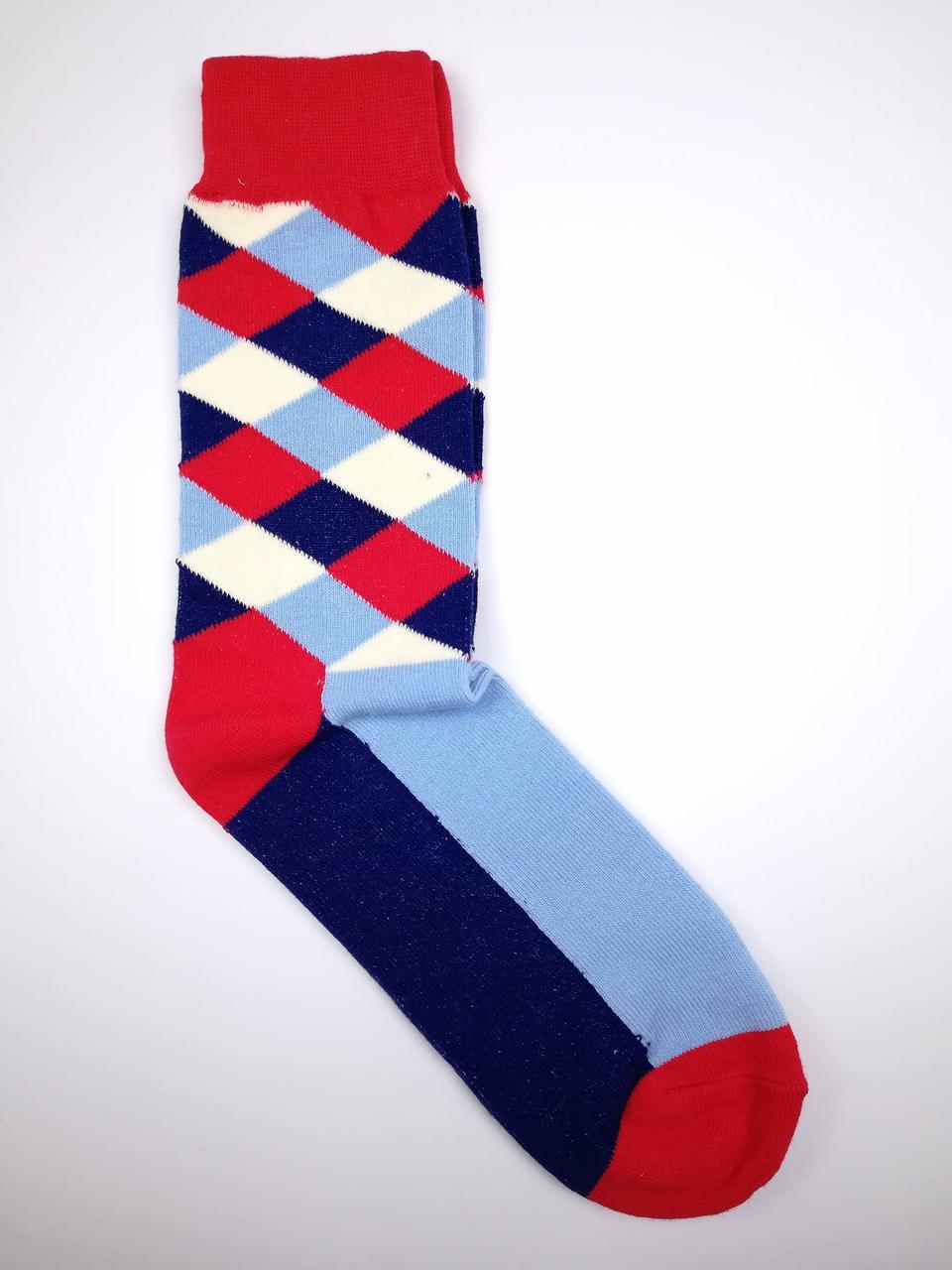 Чоловічі демісезонні шкарпетки з малюнком Ромбики