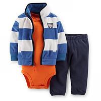 Комплект флисовый Carters Синие полоски
