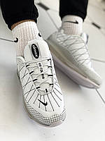 "Кроссовки мужские белые ткань Nike Air Max MX-720-818 ""White"" (найк аир макс)  (реплика), фото 1"