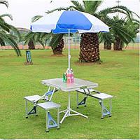 Раскладной туристический стол и стулья Folding Picnic Table