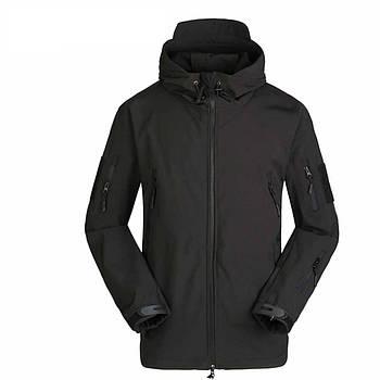 Тактическая куртка Soft Shell ESDY A001 Black XL ветровка для мужчин с карманами водонепроницаемая