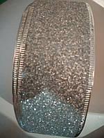 Лента декоративная серебро 5 см