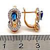 Сережки Xuping з медичного золота, сині фіаніти, позолота 18К + родій, 23663 (1), фото 2