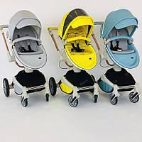 Оригинальная детская коляска 2в1 Hot Mom New 360 эко-кожа