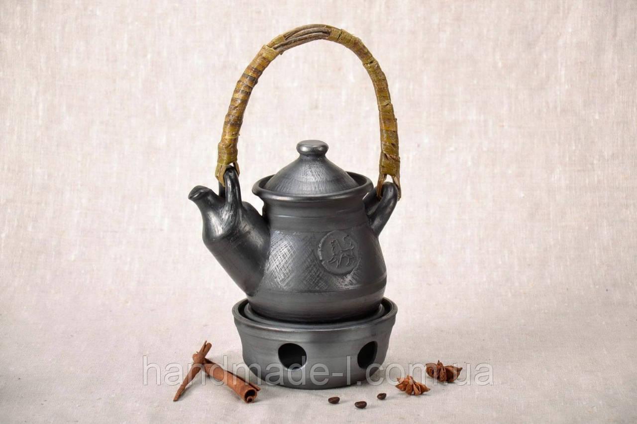 Чайник з підігрівом авторський керамічний 550мл