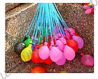 Шарики мини водяные бомбочки с трубочками 37 шт