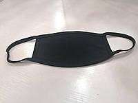 Маска РЕАЛЬНОЕ ФОТО на лицо тканевая чёрная защитная многоразовая чистая черная от 100 штук