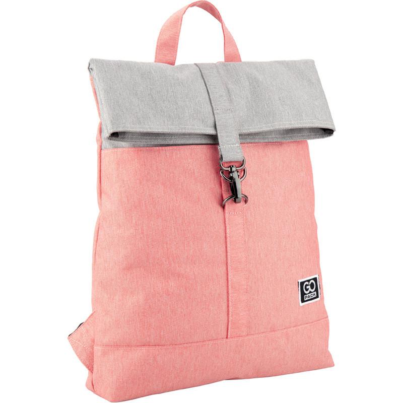 Рюкзак GoPack Сity 155-3 сіро-рожевий