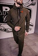 Спортивный костюм мужской весенний хаки в стиле Iceman. Кофта + штаны. Спортивний костюм чоловічий