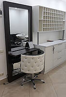 Кресло парикмахерское Ice Queen на пневматике Крестовина Хром стопки, кожзаменитель Boom-24+01 (Velmi TM)