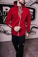 Спортивный костюм мужской весенний бордовый в стиле Iceman. Кофта + штаны. Спортивний костюм чоловічий