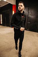 Спортивный костюм мужской весенний черный в стиле Iceman. Кофта + штаны. Спортивний костюм чоловічий