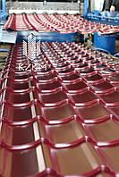 Производство металлочерепицы.