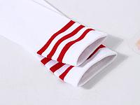 Гольфы - гетры для детей, подростков, для танцев косплей белые с красными полосками