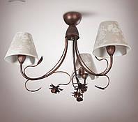 Люстра  для спальни, 3-х ламповая в стиле прованс
