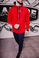 Спортивный костюм мужской весенний красный в стиле Iceman. Кофта + штаны. Спортивний костюм чоловічий
