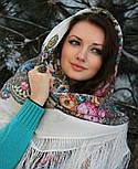 Весенний ручеек 1428-3, павлопосадский платок шерстяной с шелковой бахромой, фото 3