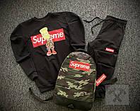 Спортивный костюм мужской Supreme Bart x black / осенний весенний ТОП качества