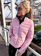 """Женская стильная куртка демисезон """"Плащёвка полосы стойка"""" в расцветках"""