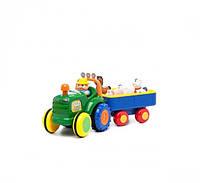 Развивающая игрушка Технопарк Трактор с трейлером (024753)