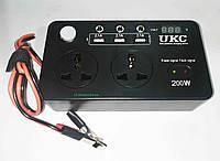 Преобразователь AC/DC 200W 12V LCD + USB, фото 1
