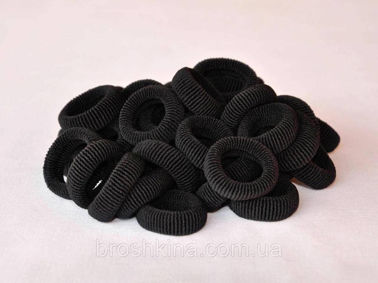 Резинка махровая Калуш Ø3.7 черная 50 шт/уп