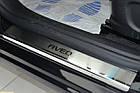 Накладки на пороги Chevrolet Aveo T300 2011- , Premium, фото 3