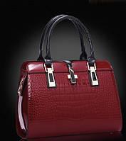 Женская стильная лаковая сумка. Модель 449, фото 5